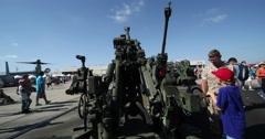MCAS Miramar Heavy Artillery Stock Footage
