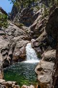 Roaring River Falls, Kings Canyon NP, Cedar Grove, California, USA - stock photo