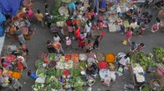 Early morning fruit and vegetable market,Ubud,Bali,Indonesia Stock Footage