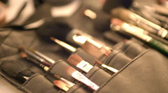 Cosmetic professional tools. Stock Footage