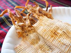 grilled dried squid - stock photo
