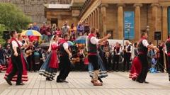 Traditional folk italian dance tarantella, pizzica - stock footage