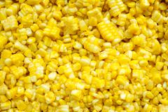 slice corn with butter - stock photo
