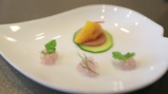Sushi plate made by a Japanese chef Stock Footage