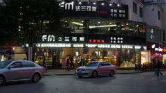 Lijiang City Store At Night China Stock Footage