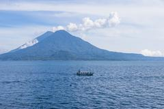 Lake Atitlan - stock photo