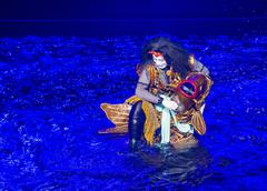 Kabuki spectacle at the Fountains of Bellagio Stock Photos