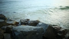 The sea hits the rocks Stock Footage