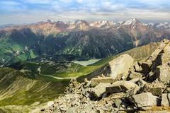 Amazing view of almaty mountains Stock Photos