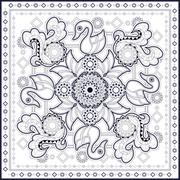 swan pattern design - stock illustration