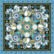 Stock Illustration of swan pattern design
