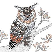 Stock Illustration of wise owl