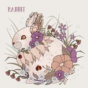 Stock Illustration of adorable rabbit
