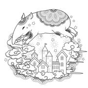 adorable tapir - stock illustration