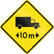 Length Restriction Ahead In Chile - stock illustration