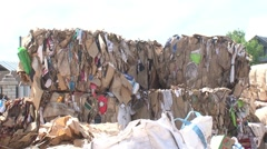 Warehouse for processing waste. Garbage Stock Footage