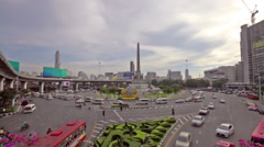 Bangkok, Thailand-October 12,2015; View of the Monorail, Pedestrian bridges and Stock Footage