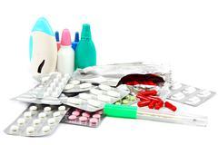 Medication isolated on white background. Stock Photos