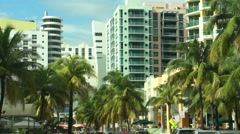 Miami Beach Hotels and Highrises 2015 Stock Footage
