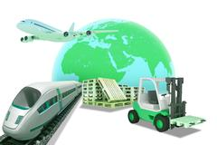 Auto-loader and green earth Stock Illustration