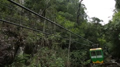 Funicular over the pine forest. Dalat, Vietnam Stock Footage