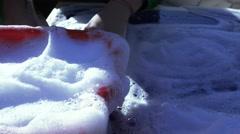 Soap white foam Stock Footage
