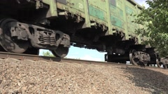 Stock Video Footage of Railroad tracks, railroad, train on speed, 4k