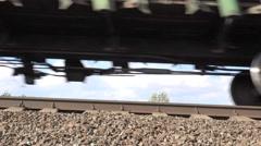 Railroad tracks, railroad, train on speed, 4k Stock Footage