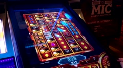 Close up slot machine - stock footage