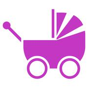 Baby Carriage Icon Stock Illustration