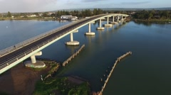 Hindmarsh Island Bridge Goolwa Fly Pass Stock Footage