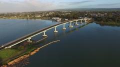 Hindmarsh Island Bridge Goolwa Fly Pass Stock Footage