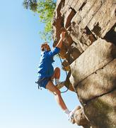 Stock Photo of Adventurous climber