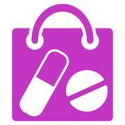 Drugs Shopping Bag Icon Stock Illustration