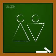 Vector heterosexual couple icon. Eps10 - stock illustration