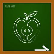 Vector apple icon. Eps10 Stock Illustration