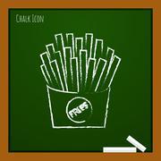 Vector fries icon. Eps10 Stock Illustration