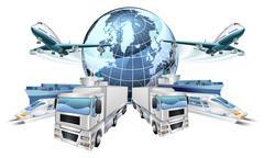 Logistics Transport Concept - stock illustration