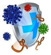 Antibacterial or Anti Virus Shield - stock illustration