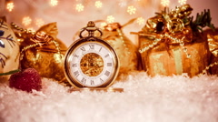 Christmas pocket watch Stock Footage