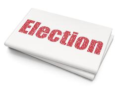 Stock Illustration of Politics concept: Election on Blank Newspaper background