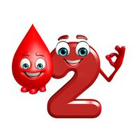 Cartoon character of two digit with blood drop Stock Illustration