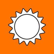 Vector sun icon. Eps10 Stock Illustration
