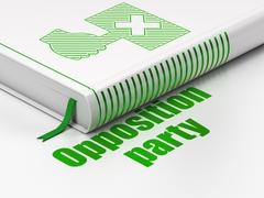 Stock Illustration of Political concept: book Protest, Opposition Party on white background