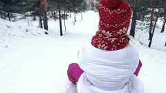 Sledging Downhill Stock Footage