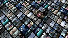 Video wall, diagonally Stock Illustration
