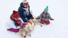 Winter Friendship Stock Footage