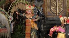 Traditional balinese legong dance,Ubud,Bali,Indonesia Stock Footage