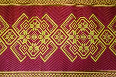 Fabric texture red brown, terracotta. Painting on silk cloth. Thai painting p Kuvituskuvat