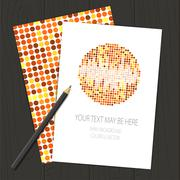 Stock Illustration of Vector corporate identity template with circle mosaic elements